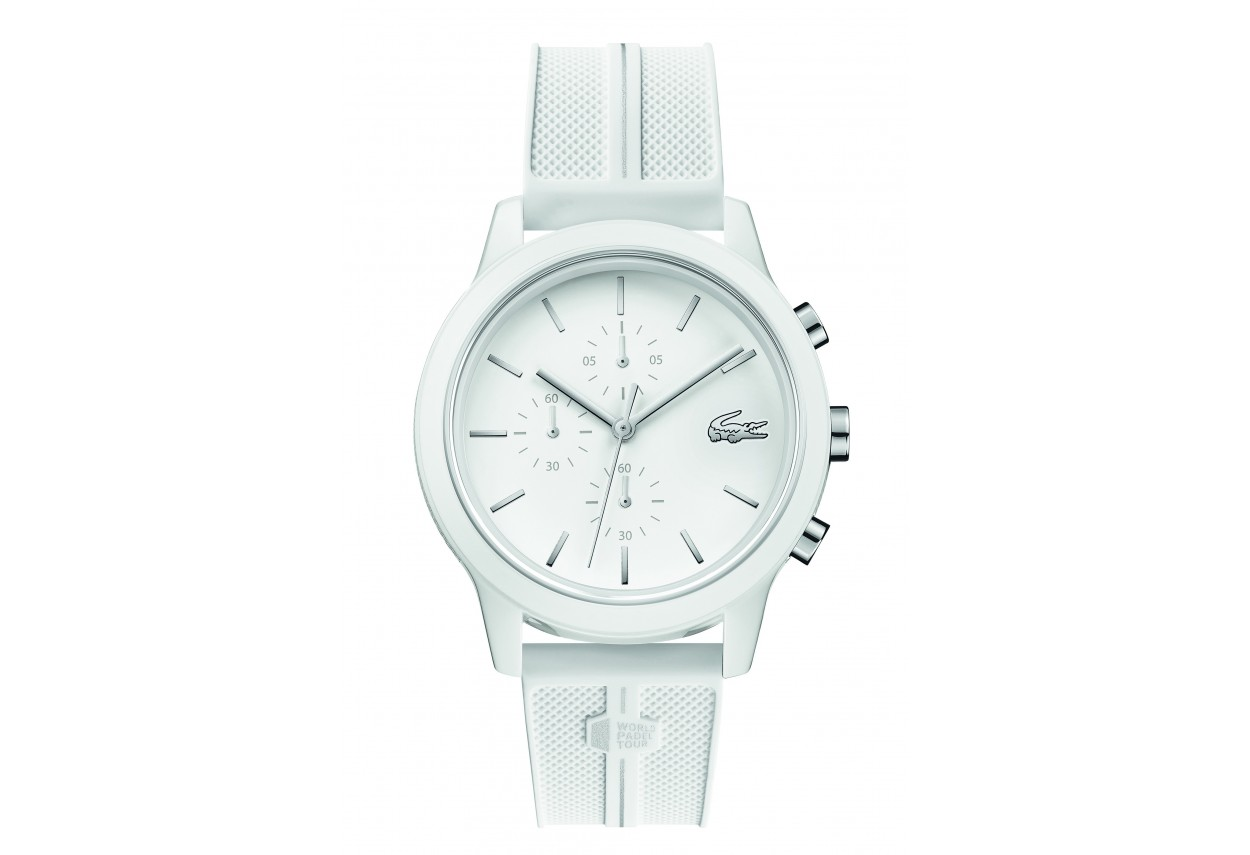 Unisex white chronograph watch