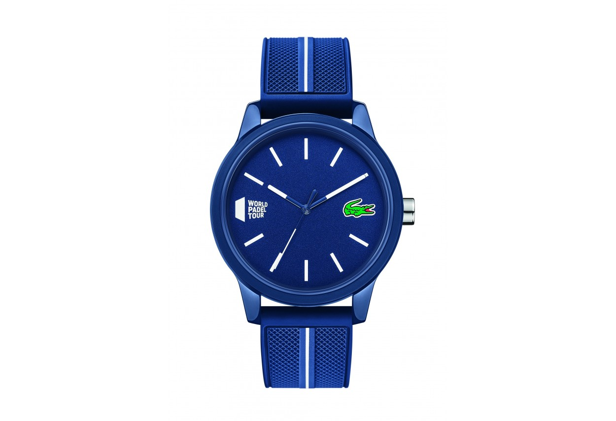 Blue men's watch with 3...